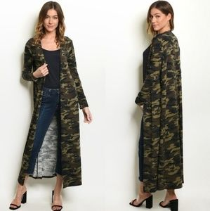 Gorgeous camo style duster NWT